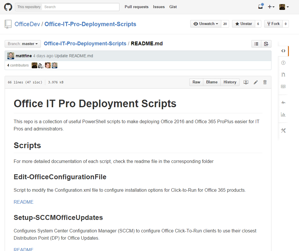 Office Deployment Scripts for IT Pros by OfficeDev